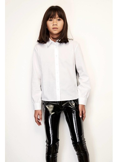 Patrizia Pepe Kız Çocuk Beyaz Gömlek Beyaz